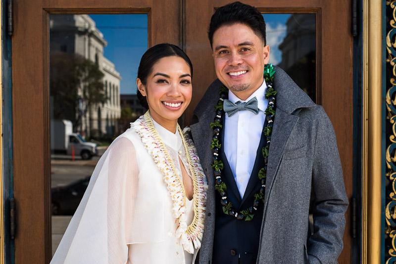 San Francisco City Hall happy couple