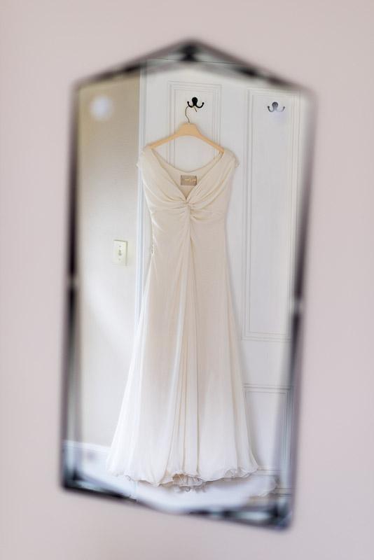 Strauss home ranch wedding dress in mirror