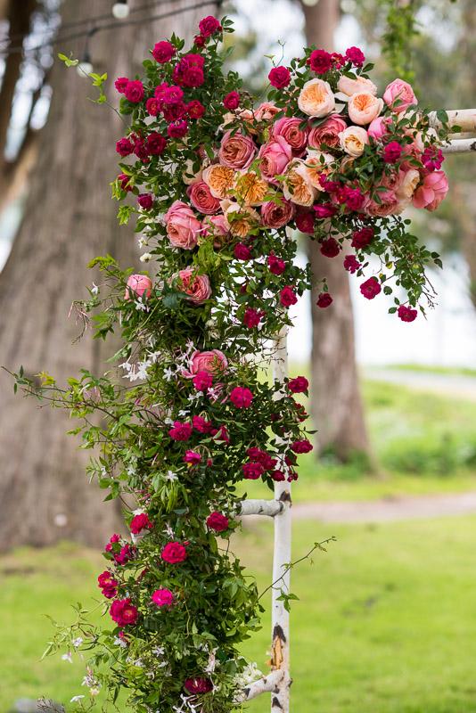 Strauss home ranch wedding chuppah flowers