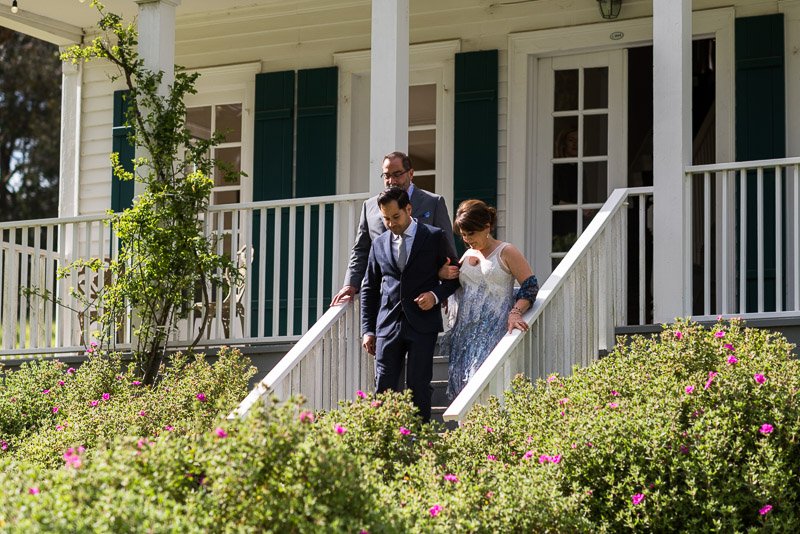 Strauss home ranch wedding groom walking down aisle