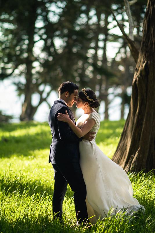 Strauss home ranch wedding blowing dress