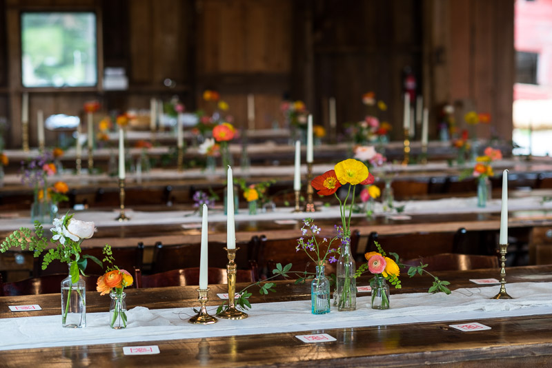Strauss home ranch wedding table layout