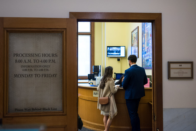 San Francisco City Hall Wedding Photography candid clerks office