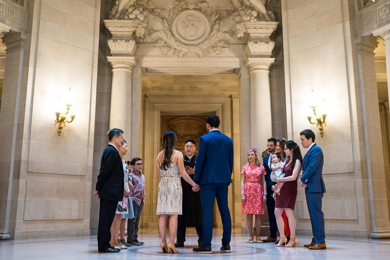 San Francisco City Hall Wedding Photography ceremony