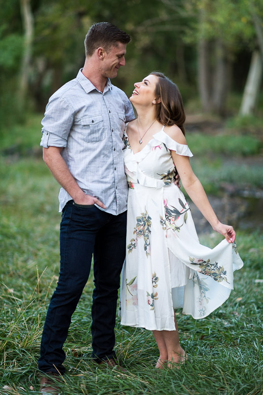 Denver Engagement Photography Morrison white dress