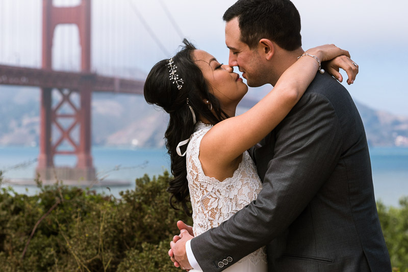San Francisco City Hall Wedding Photography scenic overlook
