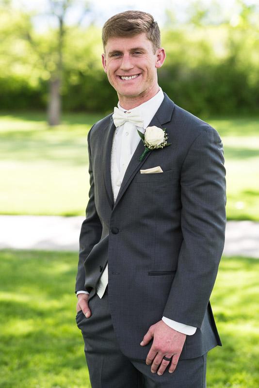 Denver Wedding Photography Wellshire Inn groom portrait