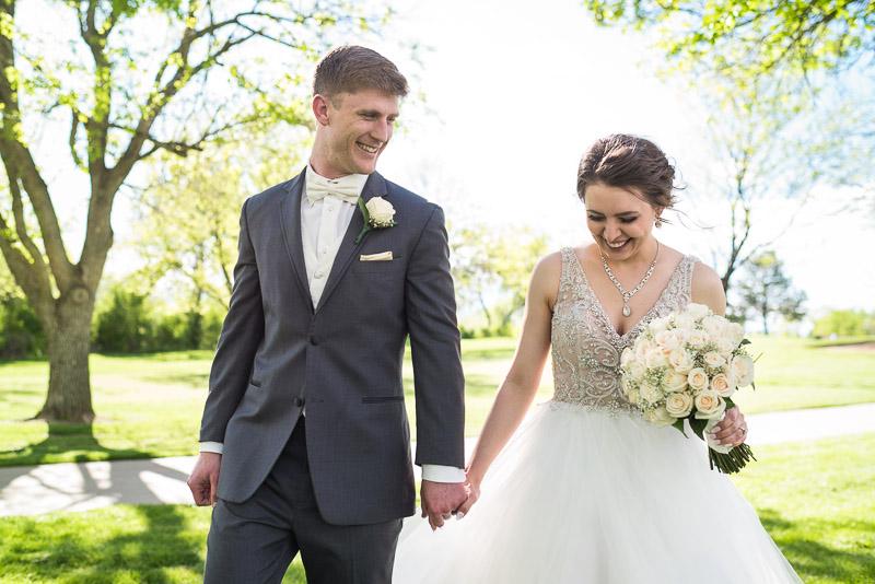 Denver Wedding Photography Wellshire Inn happy walking couple