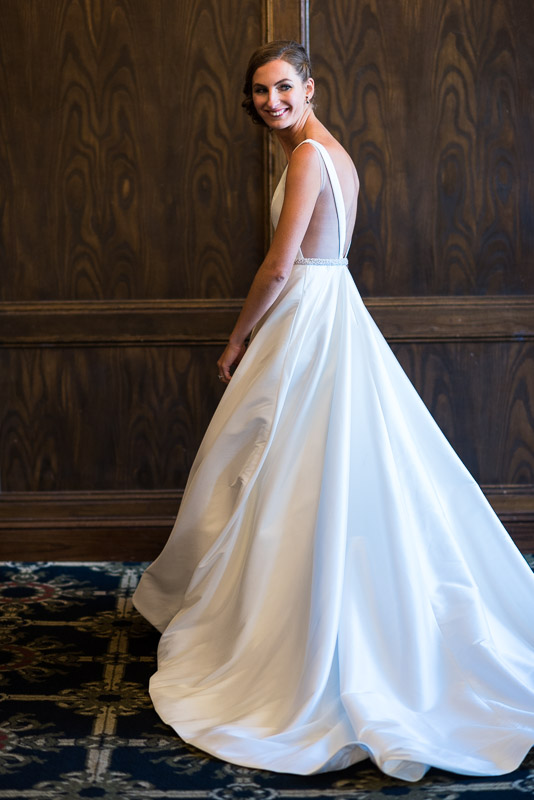 denver athletic club wedding photography bride in dress