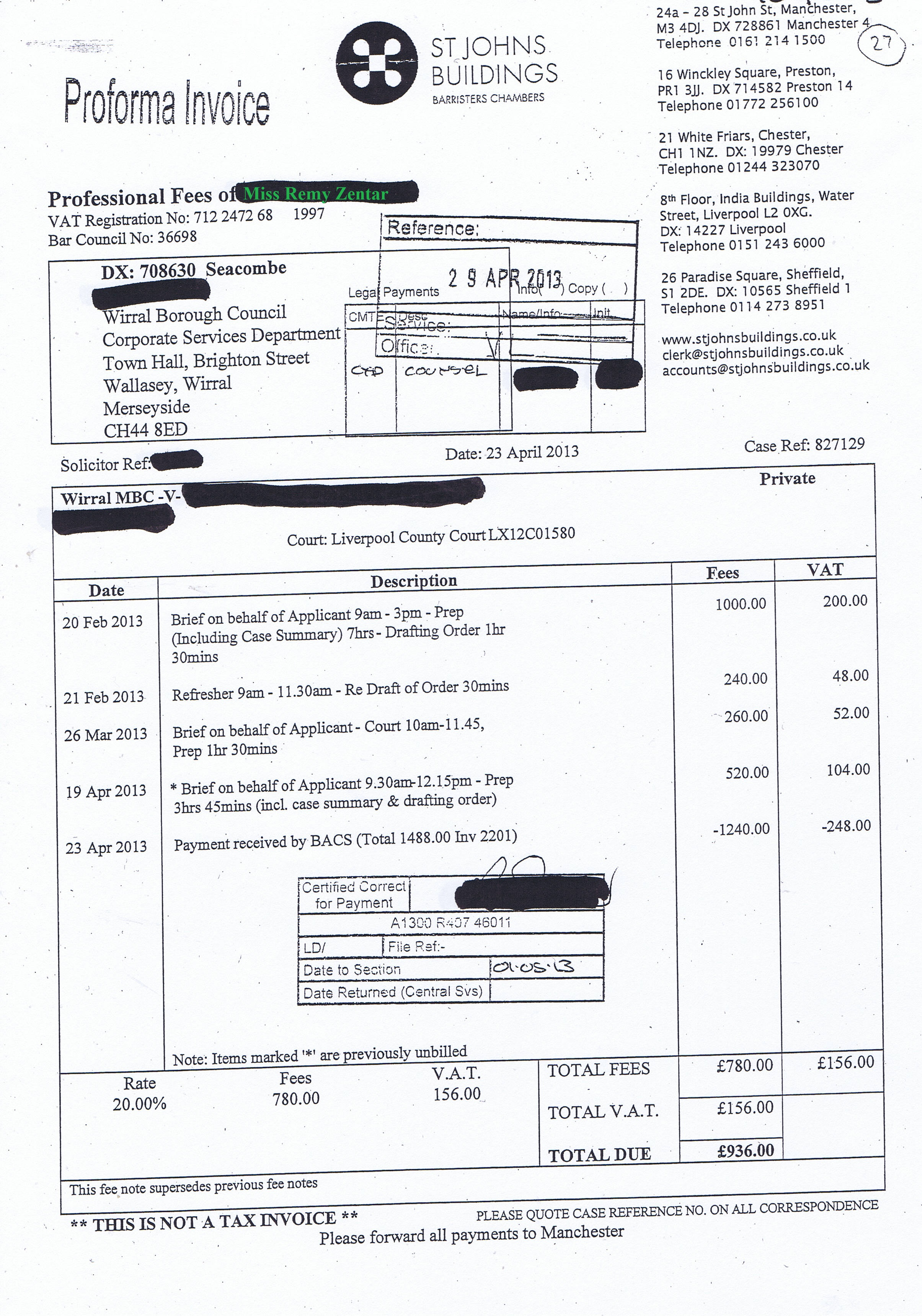 EXCLUSIVE: 155 invoices paid by Wirral Council in 2013/14