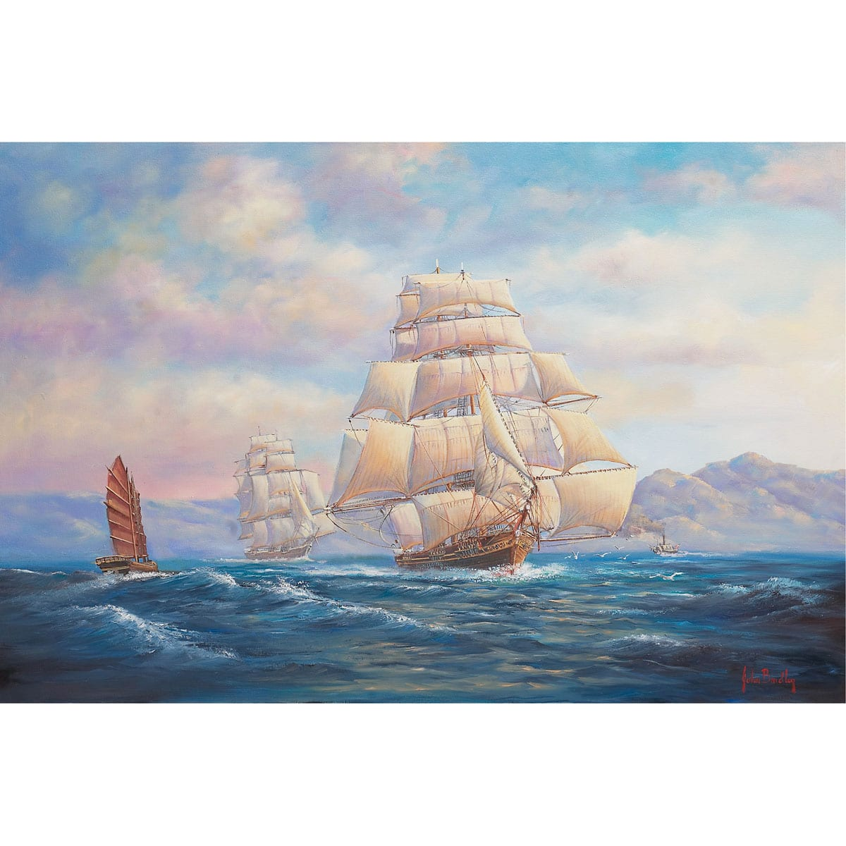 Homeward Bound Ship Painting by John Bradley
