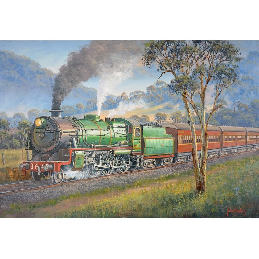 Living Steam Train Painting John Bradley