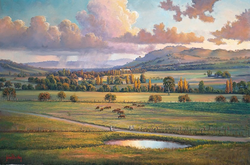 Autumn Pastoral painting by John Bradley