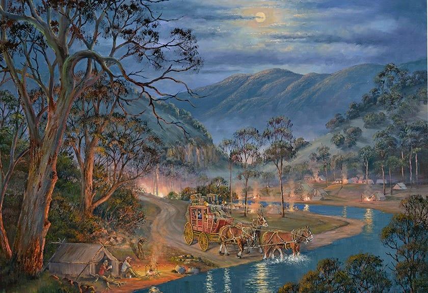 Cobb & Co Painting by John Bradley