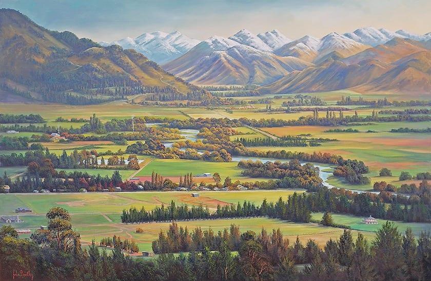 Hanmer Pastoral painting John Bradley