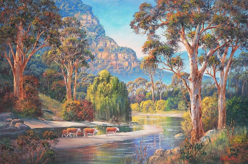 Wollondilly-Autumn-Painting John Bradley