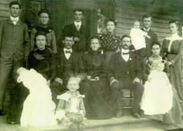 My great, great grandfather Jerome Washington Cashon Family photo in Mayfield, Kentucky, ca 1901 or 1902.