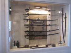 Sabers on display in the Lloyd Tilghman House & Civil War Museum.