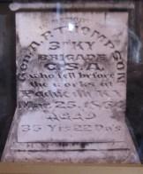 Photo of A. P. Thompson gravestone Photo at the Lloyd Tilghman House & Civil War Museum.