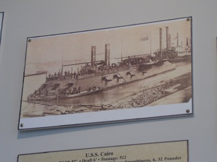 Ironclads on display in the Lloyd Tilghman House & Civil War Museum.