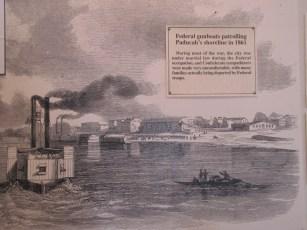 The navy patrols Paducah in the Lloyd Tilghman House & Civil War Museum.