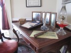 A writing desk in the Lloyd Tilghman House  & Civil War Museum.