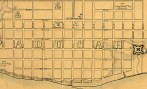 A close up view of the Rziha Map of Paducah, Dec 1861, Wikimedia Commons.