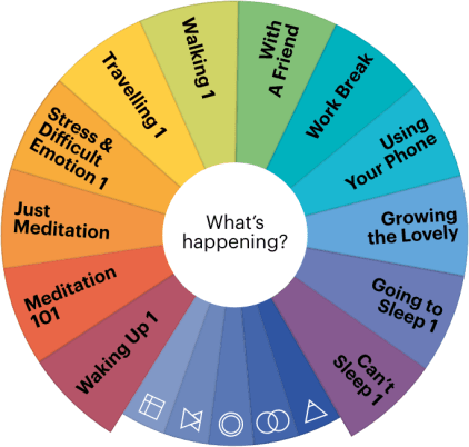 Buddhify meditation topic wheel for the Buddhify mobile app.
