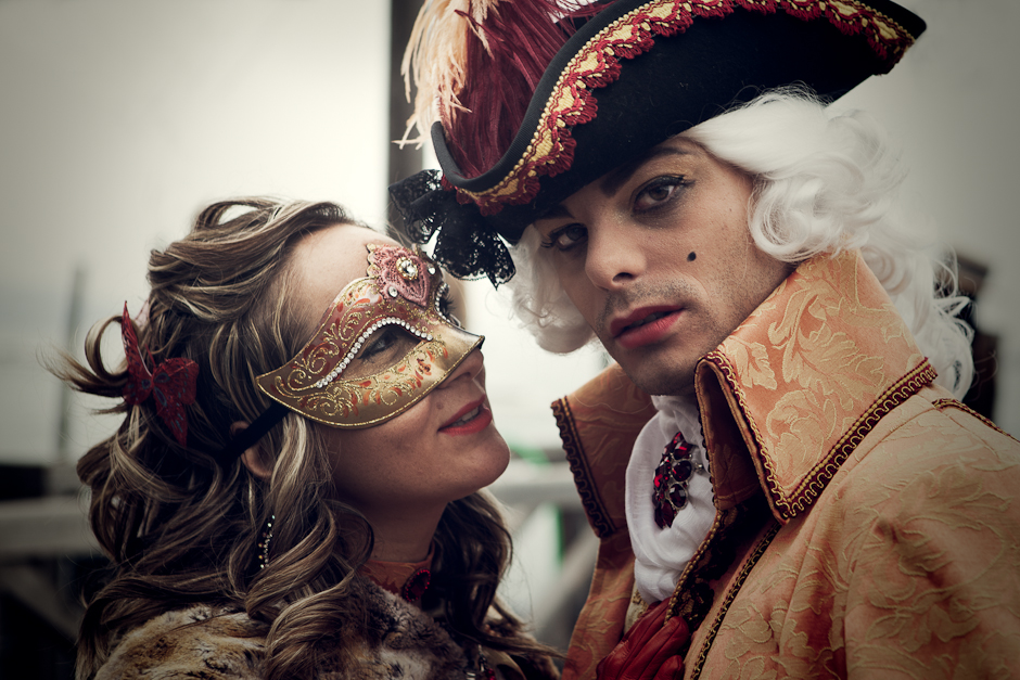Venice Carnival 2012 - Man and woman in costume