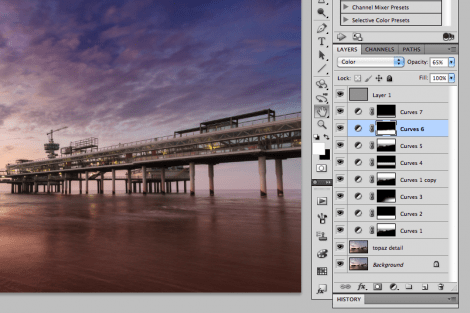Screenshot of photoshop layers applied to this image