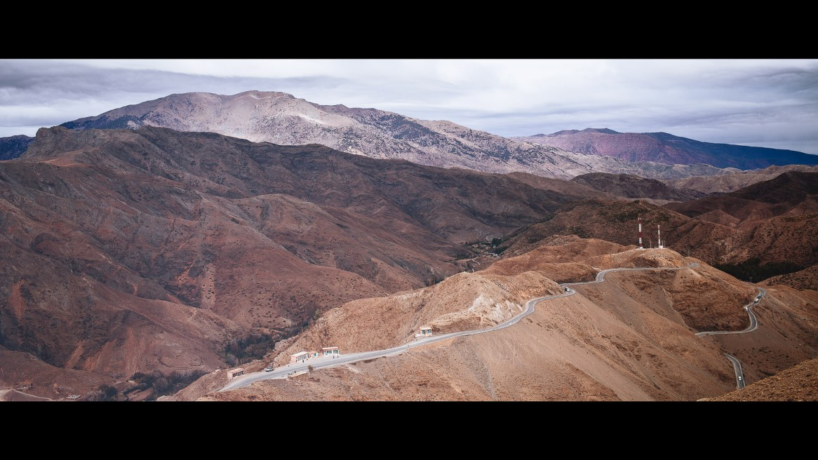 The High Atlas Mountains and the road that connects it to the desert