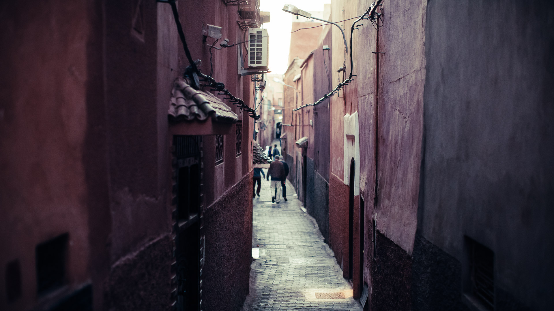 Looking down a side street in Marrakech