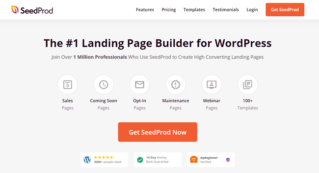 The best WordPress page builder plugin on the market, Seedprod