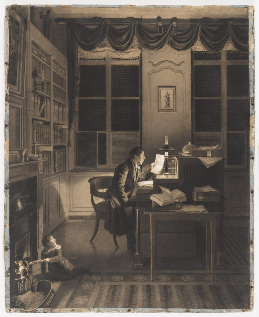 A__L__Leroy_-_Interior_with_a_Man_Reading_at_His_Desk_-_Google_Art_Project