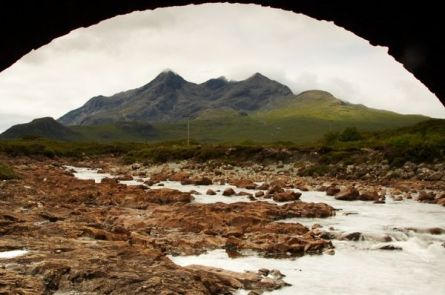 The Black Cuillin Under A Bridge