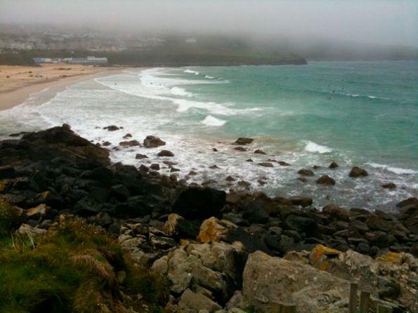 Porthmeor Beach In Mist