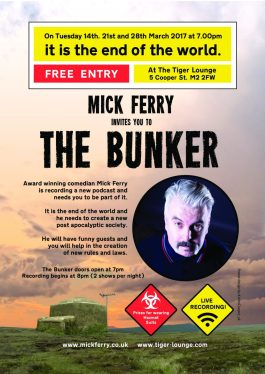 Mick Ferry poster design