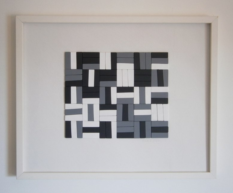 Geometric relief Painting.
