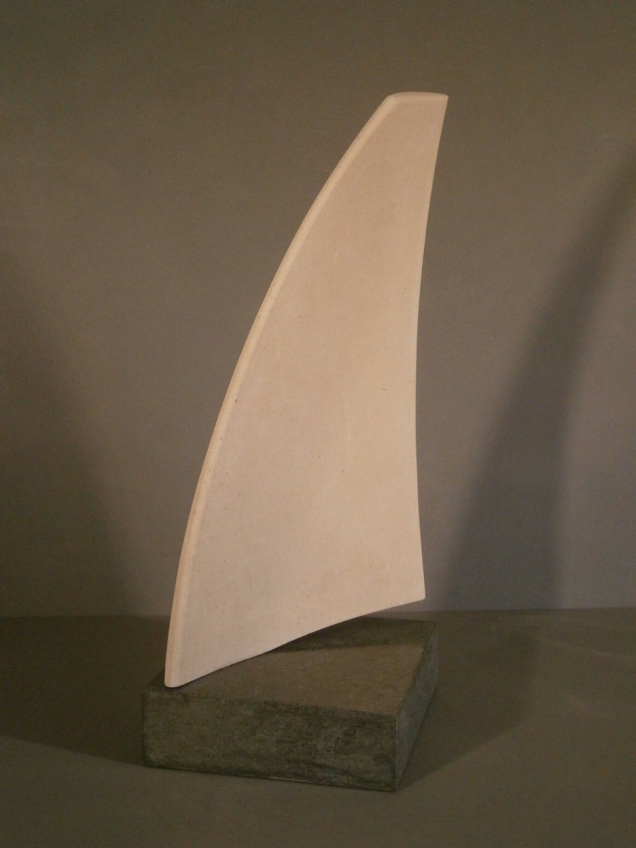Stone sculpture of Sail Form