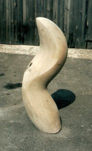 """Curve"" Chestnut. Sculpture by John Davey"