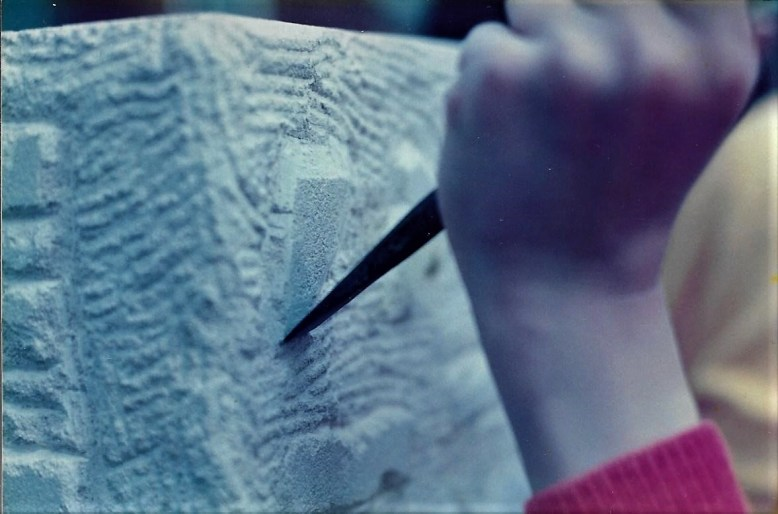 Young stone carver.