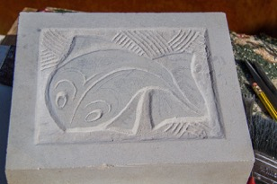 Stone Carving Inspired by M.C. Escher
