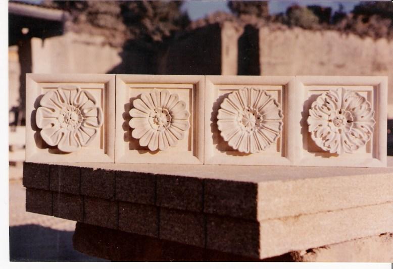 Flower Relief Carvings