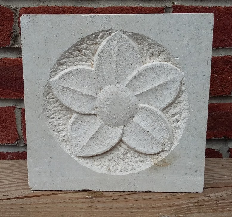 Stone carving of Flower