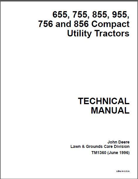 John Deere 655 755 756 855 856 Compact Utility Tractor
