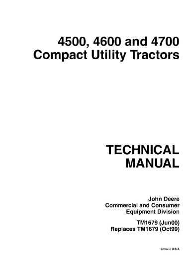 John Deere 4500, 4600, 4700 Compact Utility Tractors