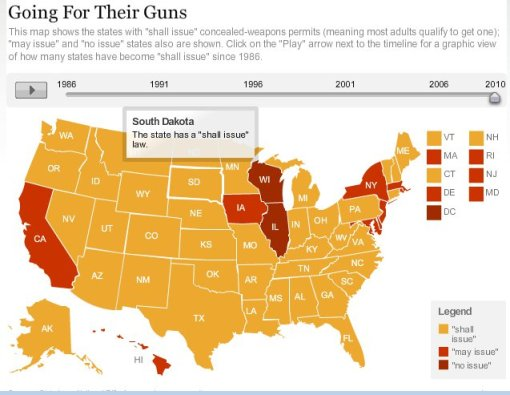 Concealed pistol state laws