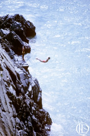 Cliff Dive - $1200 - 11x17 Kodachrome Color C Print in 18x24 frame - Edition of 10