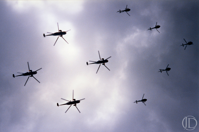 Helicopters - $1200 - 11x17 Kodachrome Color C Print in 18x24 frame - Edition of 10