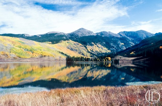Mountain Reflection - $1200 - 11x17 Kodachrome Color C Print in 18x22 frame - Edition of 10